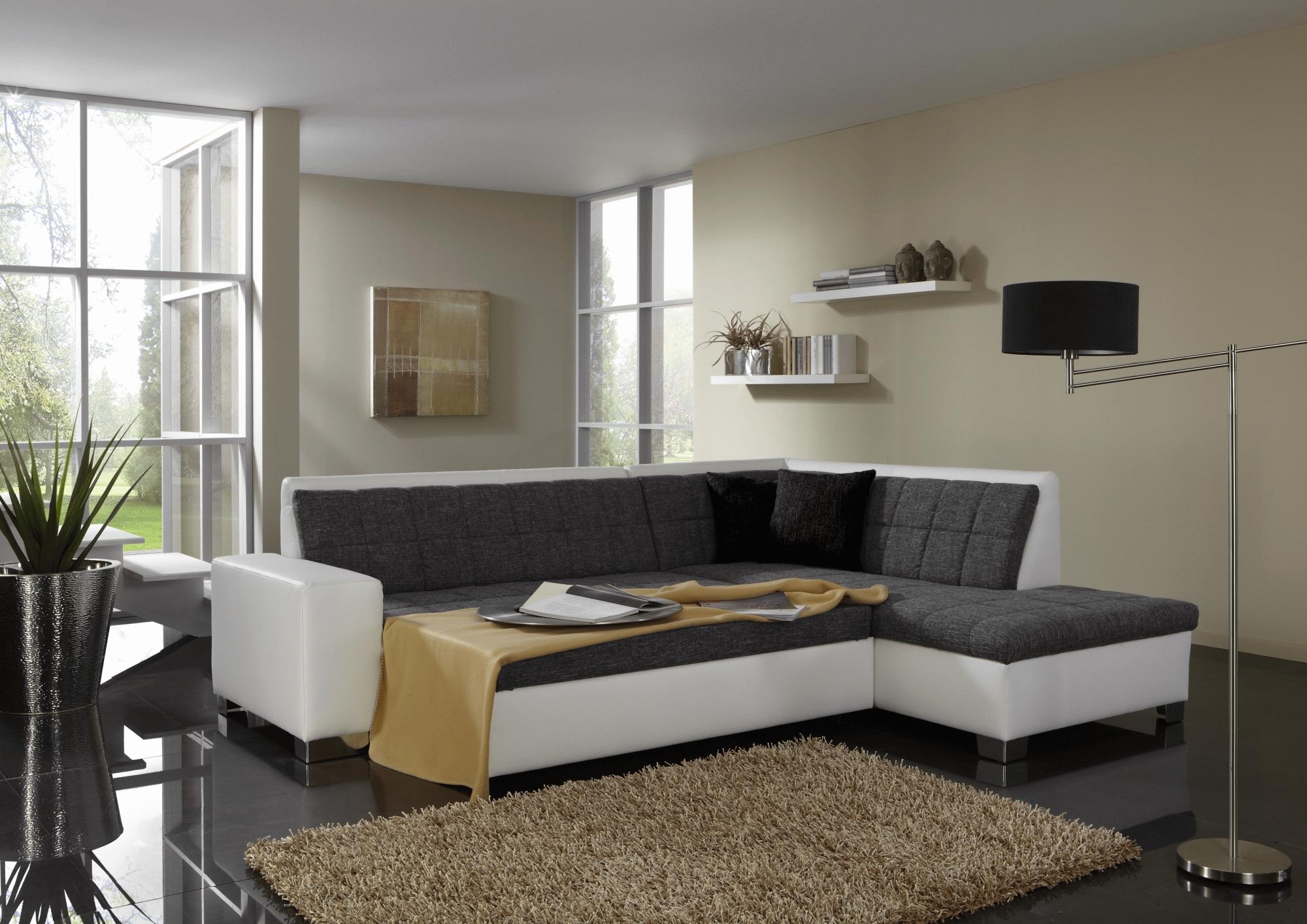 polsterecke sofa ecksofa sitzecke couch no 262a mit schlaffunktion aufbau neu ebay. Black Bedroom Furniture Sets. Home Design Ideas