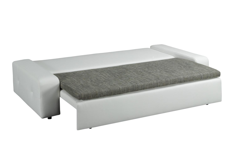 sofa schlafcouch schlafsofa 2 sitzer mit bettkasten und aufbau neu ebay. Black Bedroom Furniture Sets. Home Design Ideas